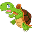 Cartoon funny turtle running vector image vector image