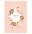 chamomile background daisy wreath flowers wedding vector image