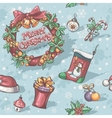 Christmas and New Year holidays vector image vector image