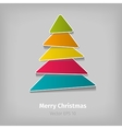 colorful christmas tree vector image vector image
