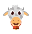 cow animal farm isolated icon vector image vector image
