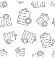 document with gear seamless pattern background vector image vector image