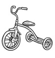doodle tricycle vector image vector image