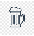 drink concept linear icon isolated on transparent vector image vector image