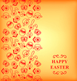 easter muzzle vertical orange vector image vector image