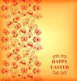 easter muzzle vertical orange vector image vector image