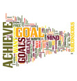 eight steps to achieve any goal text background vector image vector image