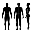 Fashion bald man full length template figure silho vector image vector image