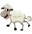 funny sheep cartoon vector image vector image
