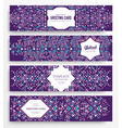 geometric abstract brochure cards set vector image vector image