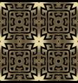 geometric gold ornamental greek key seamless vector image