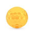 golden golf award concept shiny realistic vector image