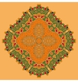 Green and Orange Oriental Mandala Abstract Retro vector image vector image