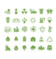 green ecology icons clean environment vector image vector image