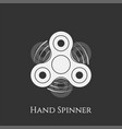 hand spinner toy banner vector image