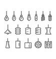 hanging lamp line icon vector image