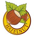 Hazelnut label vector image vector image