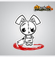 helloween evil bunny voodoo doll pop art comic vector image vector image