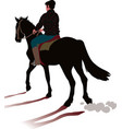horse and rider galloping vector image vector image