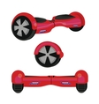 hoverboard hover board wheel device vector image vector image