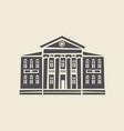 icon of two-storey old building with columns vector image