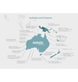 infographics continent Australia and Oceania blue vector image