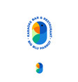 logo blue parrot karaoke bar vector image