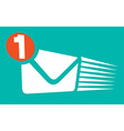 Mail Notification Icon vector image vector image