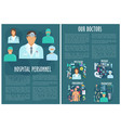 medical personnel brochure template with doctor vector image vector image