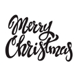 Merry Christmas Hand drawn lettering on light vector image vector image