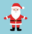 merry christmas santa claus wearing red hat vector image vector image