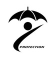 people and umbrellas that symbolize insurance vector image vector image