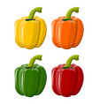 pepper bell vegetable isolated on white background vector image vector image