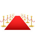 realistic detailed 3d luxury red carpet with gold vector image vector image