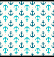 Retro seamless pattern with anchors vector image vector image