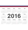 Russian circle calendar 2016 vector image vector image