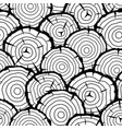 seamless pattern with wood stumps background for vector image vector image