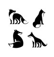 set fox logo vector image vector image