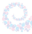 spiral shape abstract bubble vector image