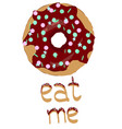 sweet donut vector image