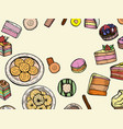 sweets and bakery set vector image vector image
