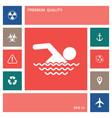 swim icon symbol elements for your design vector image