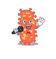 talented singer bacteroides holding a microphone vector image vector image