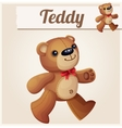 Teddy bear walks Cartoon vector image