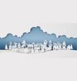 winter snow urban countryside landscape city vector image vector image