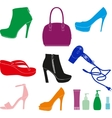 Women Accessories Set vector image