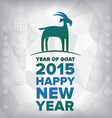 year goat 2015 and happy new year vector image