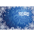 New Years 2014 background vector image