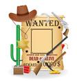 cowboy wild west concept icons vector image