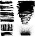 Hand drawn brush strokes vector image